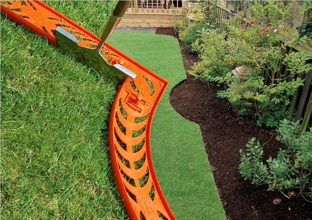 Diy landscape edging ideas backyard frontyard for Homemade garden edging ideas