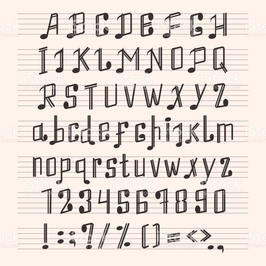 Image Result For Musical Font Alphabet
