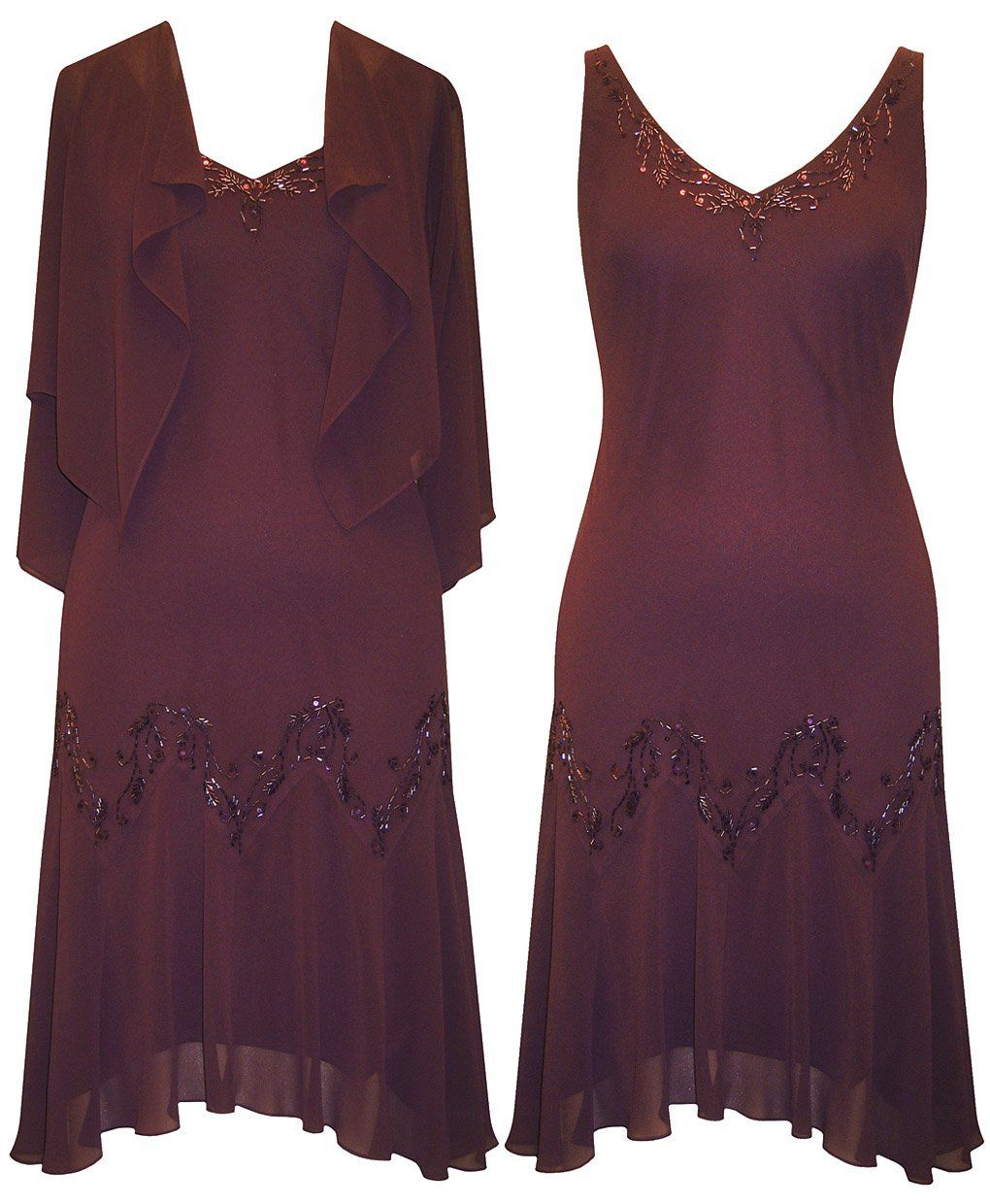 Plus Size Aubergine All Night Dress Perfect for a Mother of the ...