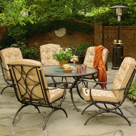 Jaclyn Smith Addison 6 Piece Dining Set Patio Furniture Patio Furniture Sets Patio
