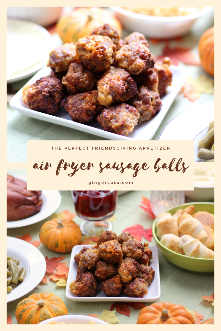 ad These air fryer sausage balls will be a hit for