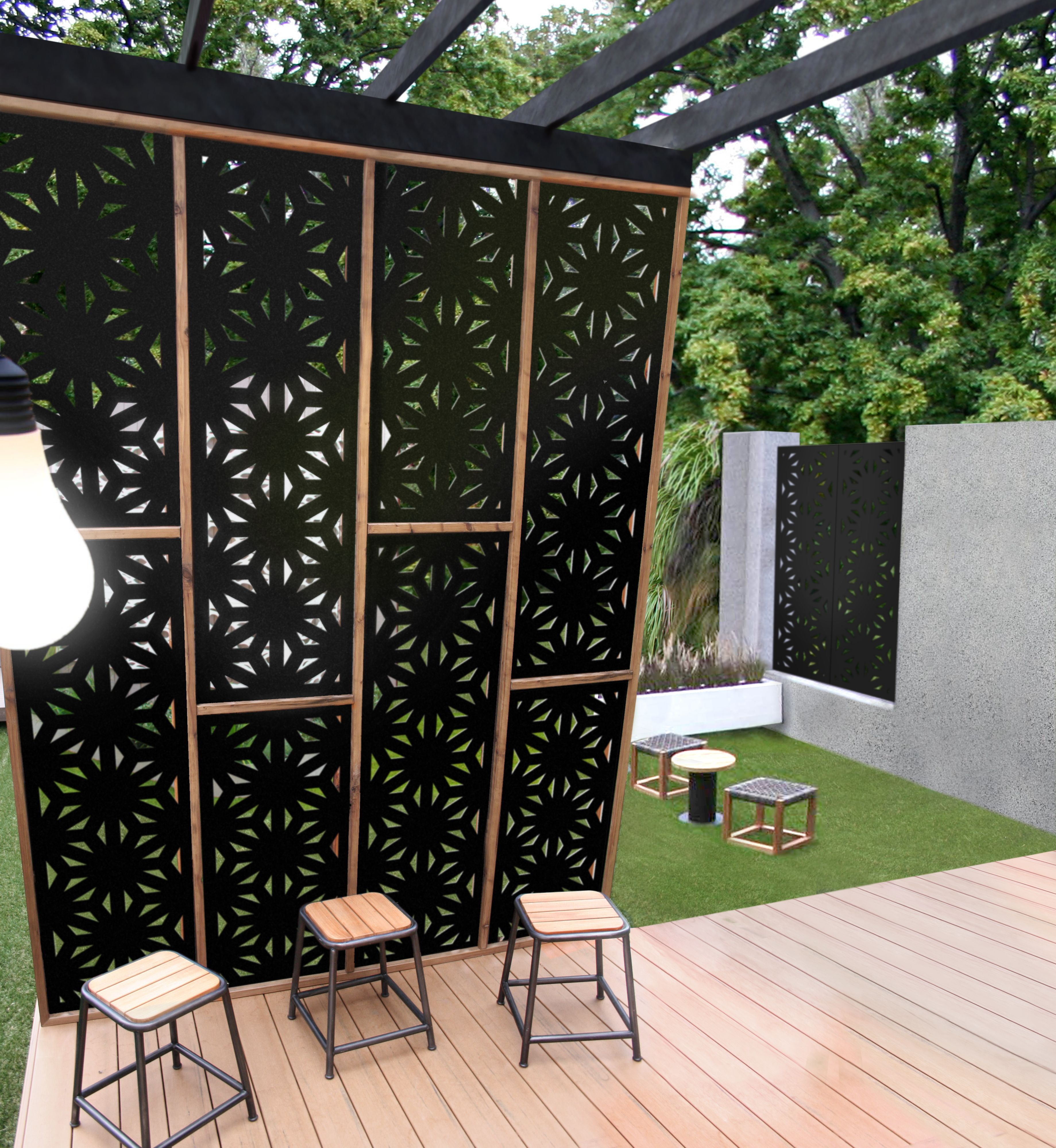 Star Jasmine 80 Decorative Screen Panels Privacy Screen Outdoor