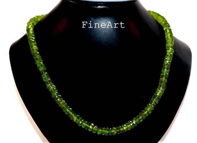 Goldketten - Peridot Kette Gold 585 Grün Geschenk - ein Designerstück von FineArt-Loomis bei DaWanda