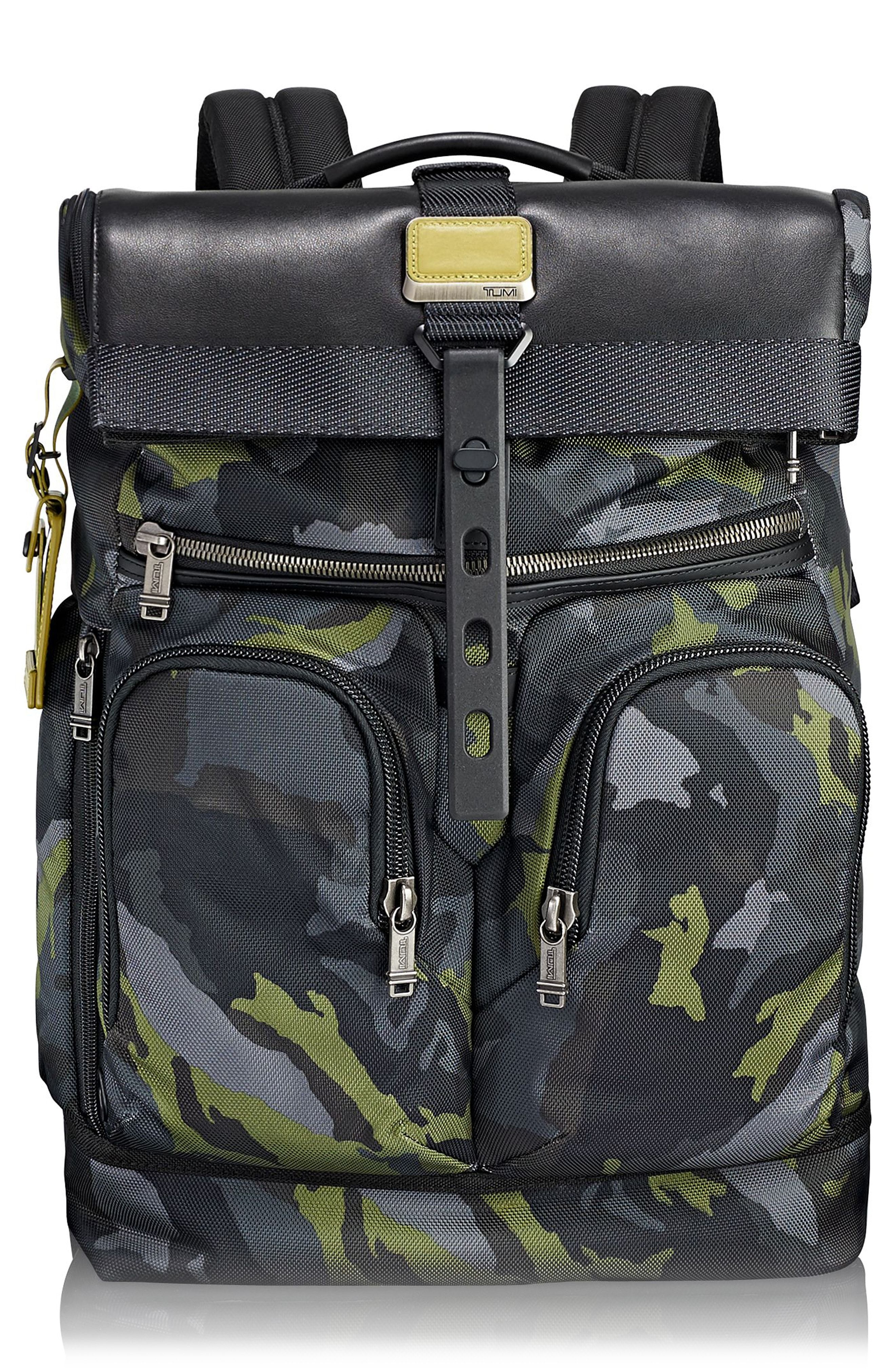 cef98d51e649 TUMI ALPHA BRAVO - LONDON BACKPACK - GREEN.  tumi  bags  leather  nylon   backpacks