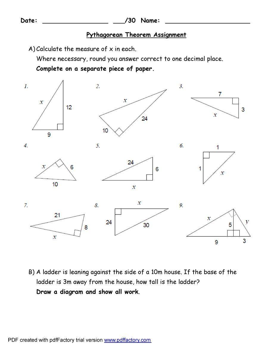 Pythagorean Theorem Answer Key : pythagorean, theorem, answer, Pythagorean, Theorem, Worksheet, Answers, [Wo…, Worksheet,, Theorem,, Geometry, Worksheets