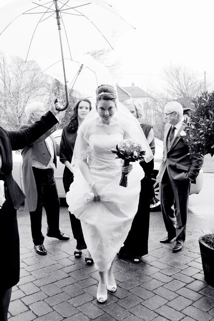 Carolyn kennedy bessette wedding dress  wet spring wedding blues Cooling Castle Barn by Helen England