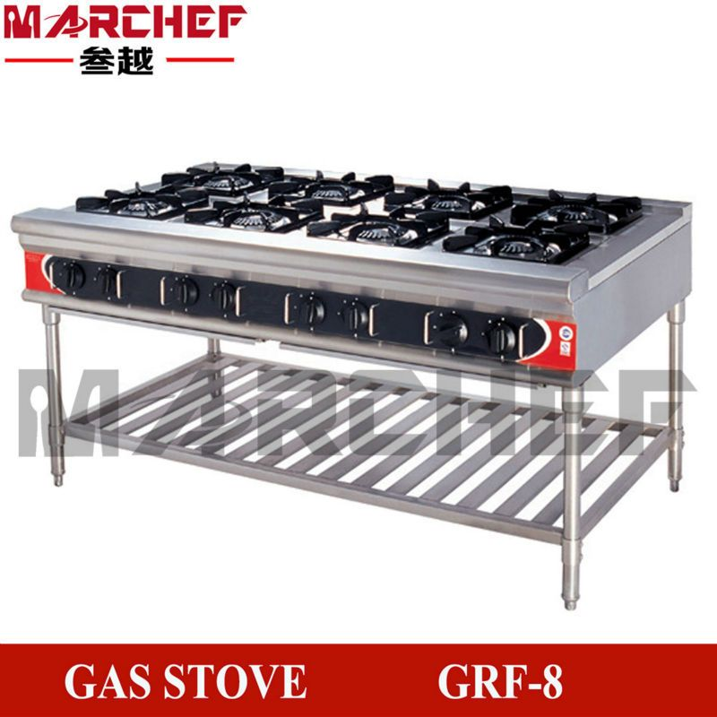 8 Burners Free Standing Type Commercial Kitchen Restaurant Equipment Gas Cooker Burner Stove Range Food Preparation Food Hacks Gas Cooker
