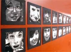Middle School Art Lessons - Bing Images. Have students bring a picture of themselves and have them recreate the picture using art materials: water colors, beans, sequins, glitter, etc.