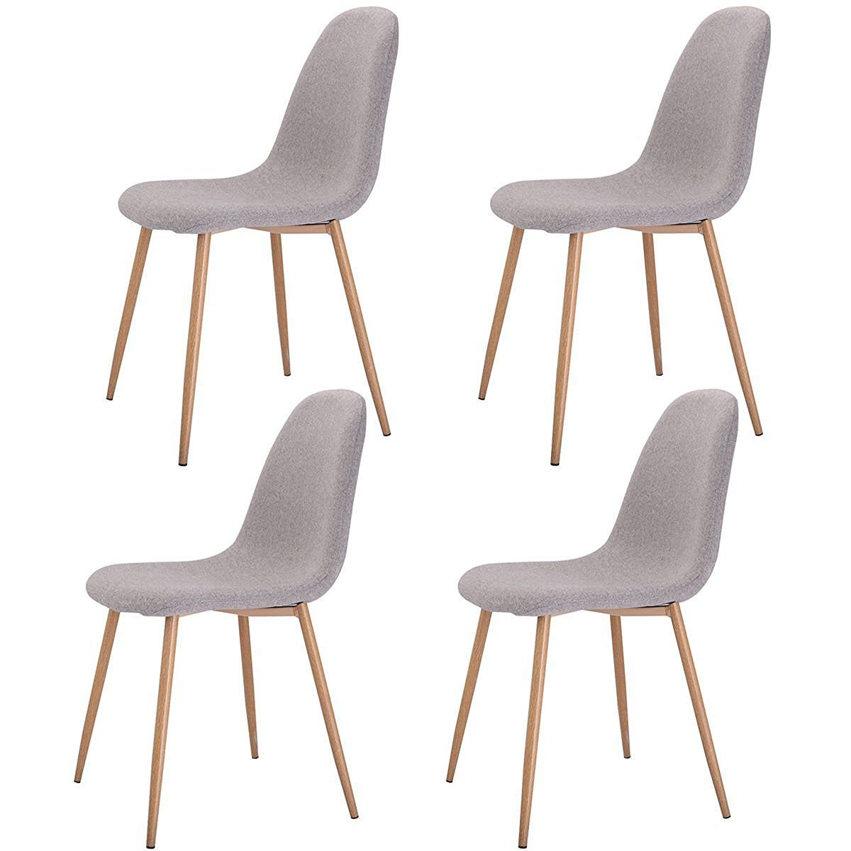 Esszimmermöbel Set Amazon Giantex Set Of 4 Modern Dining Accent Side Chairs