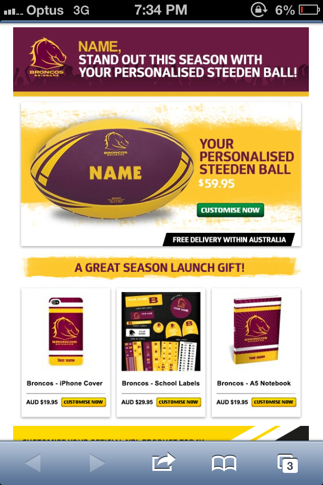 Great personalised merch ideas for new members from the