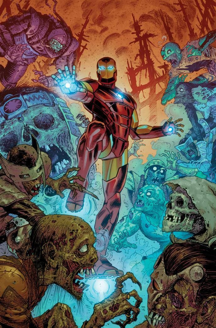 Invincible Iron Man #1 Collector Corps Variant - Tony Moore