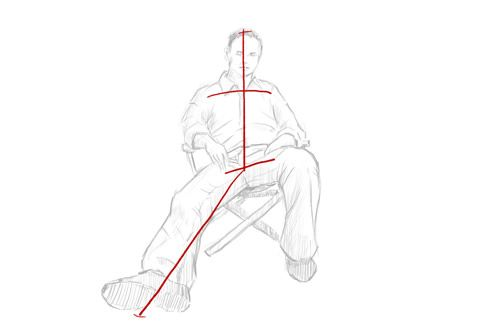How To Draw A Seated Person Sitting Down Person Sitting Person Drawing Drawing People