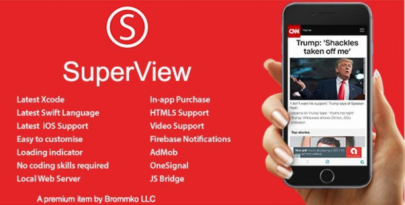 SuperView WebView App for iOS with Push Notification