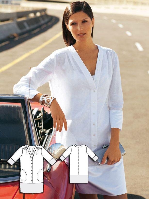 Linen Shirt Dress 06/2011 #105B  Pattern:  http://www.burdastyle.com/pattern_store/patterns/linen-shirt-dress-062011
