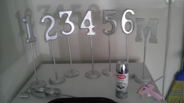 Diy Table Numbers Paint Wooden Wedding Colors