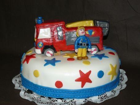 """Gateau d'anniversaire enfant """" Sam le Pompier """""""