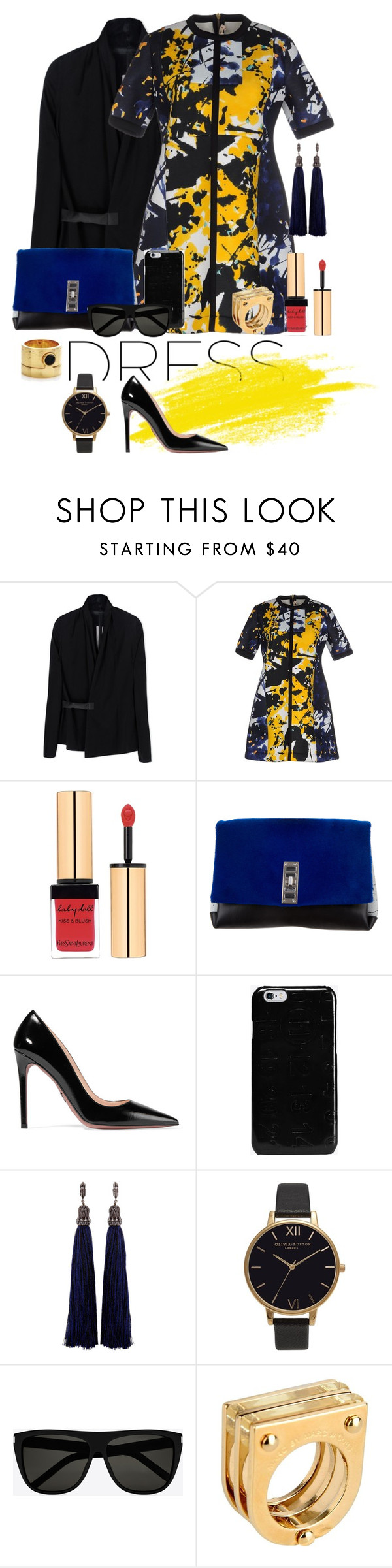 """""""Graffiti"""" by lomozui ❤ liked on Polyvore featuring Rick Owens, Marni, Yves Saint Laurent, Proenza Schouler, Prada, Maison Margiela, Lanvin, Olivia Burton and Marc by Marc Jacobs"""