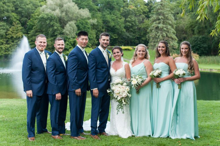 Bridal Party at Shadow Lake Golf Club Wedding / Rochester Wedding / Wendy Zook Photography  www.wendyzook.com  #wendyzookphotography #rochesterphotography #marylandweddingphotographer #marylandweddingphotography #bridalparty #bridesmaids #groomsmen #weddingpartyphotos