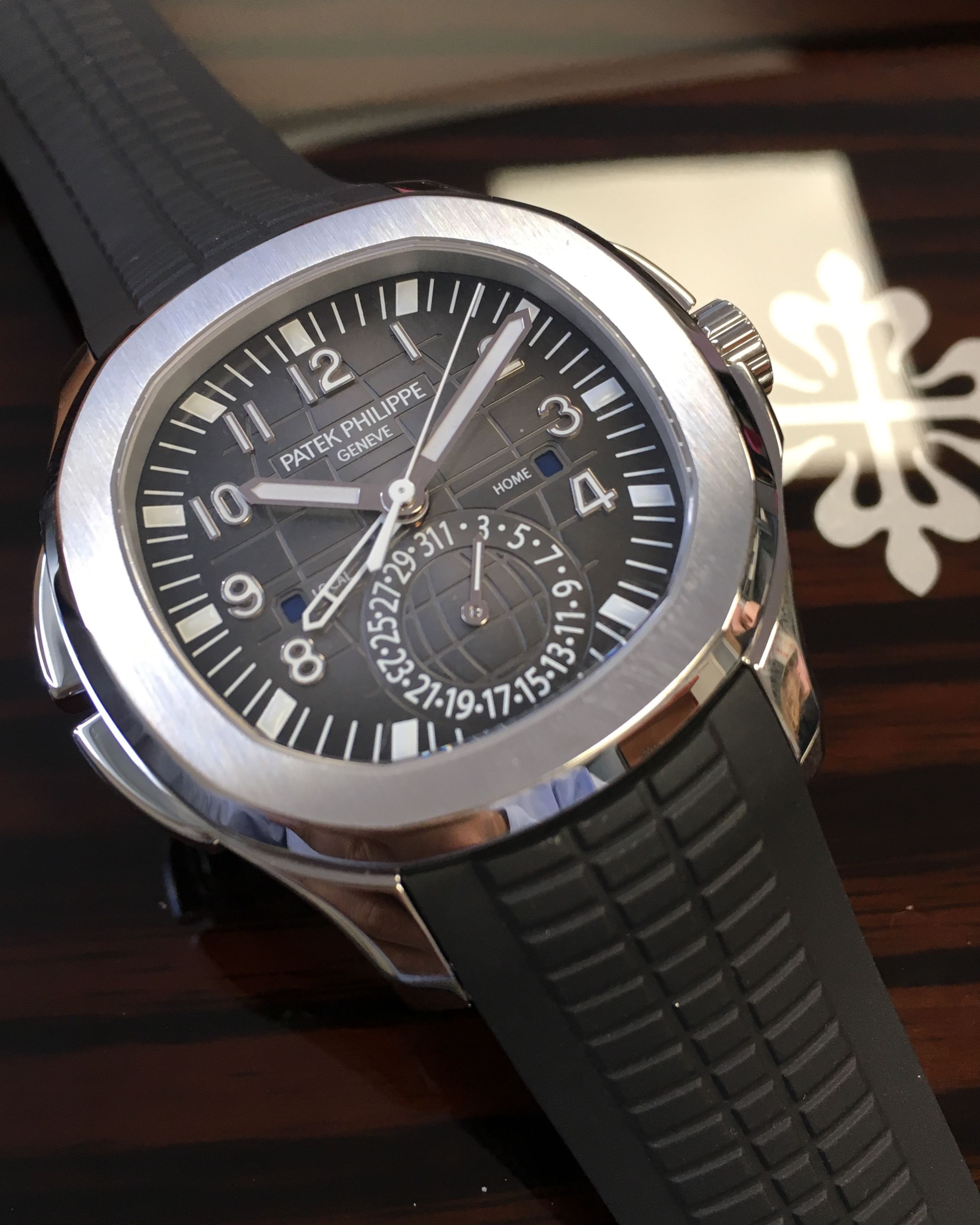 Patek Philippe Aquanaut Travel Time 5164a 001 Time In 2019