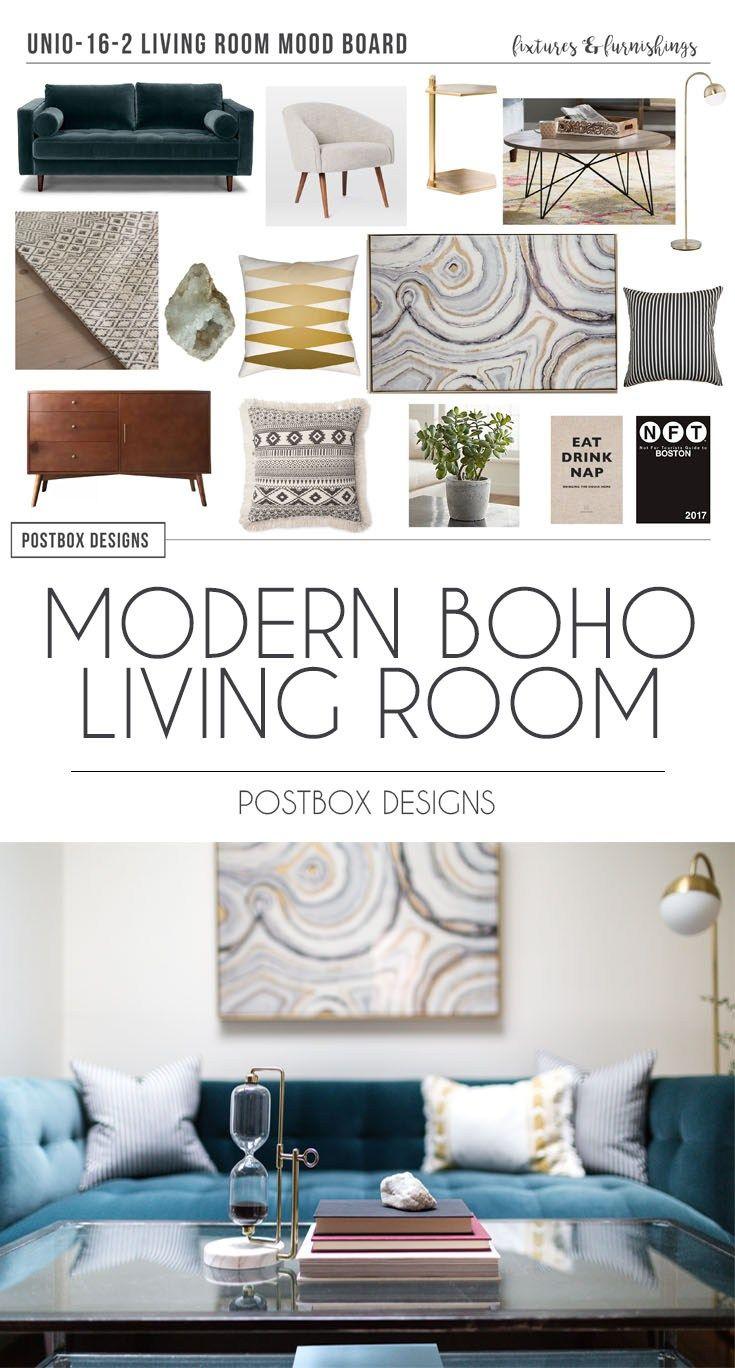 Postbox Designs E Design Modern Boho Living Room Makeover Family Decor For Sonder