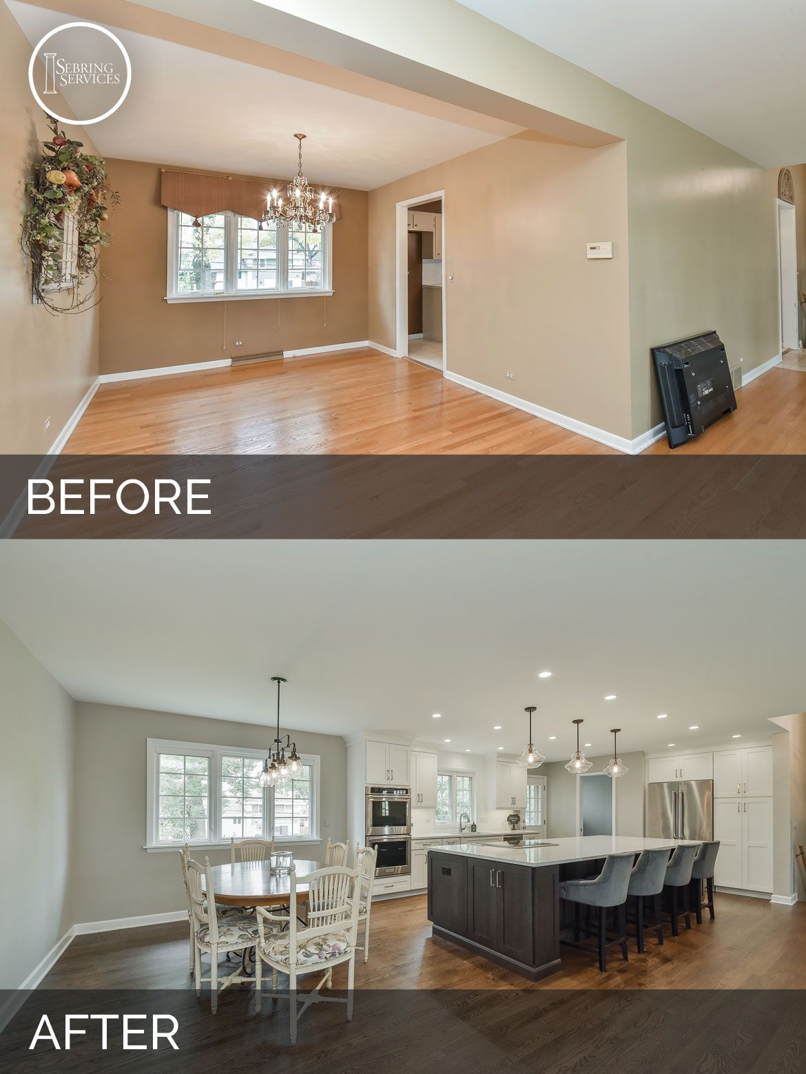 Dale & Tracey's Kitchen Before & After Pictures Home