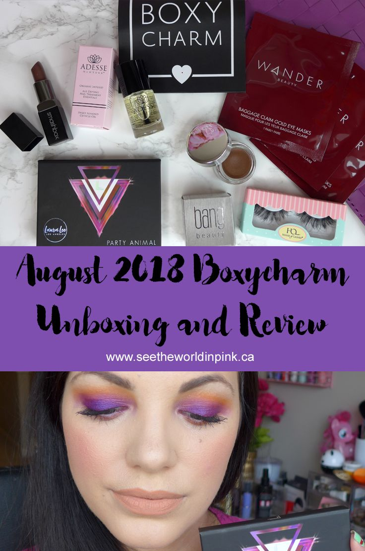 August 2018 Boxycharm Unboxing and Review Boxycharm