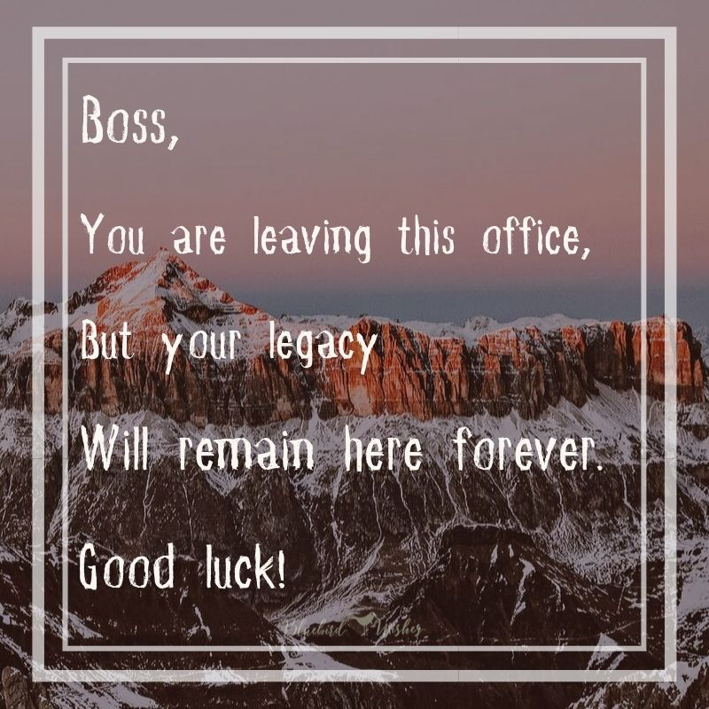 farewell wishes for boss with images  farewell quotes