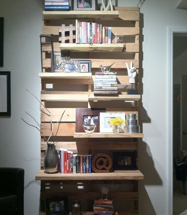 5 estanter as hechas con palets para conquistarte my dream house pinterest pallet shelves - Estanterias con palets ...