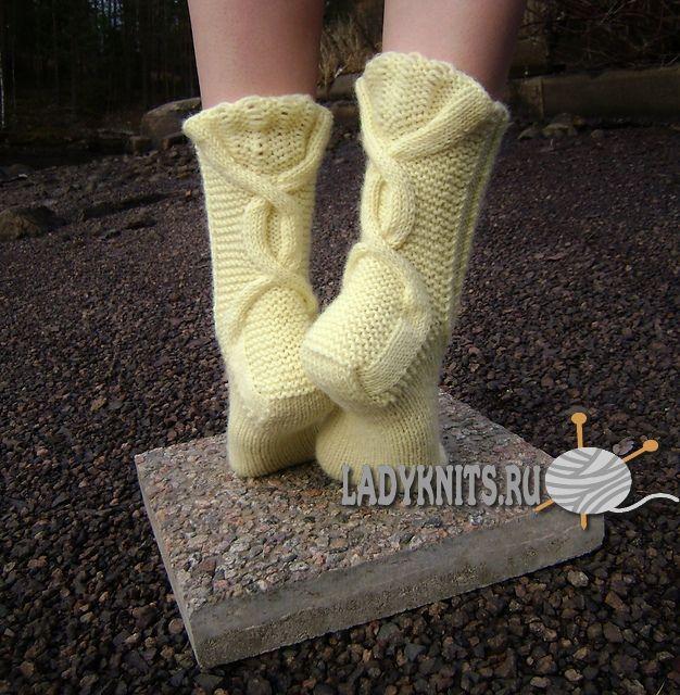 вязаные спицами красивые носки зимняя чаша гольфы носки носки