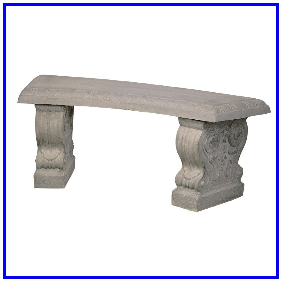 38 Reference Of Concrete Garden Bench Curved In 2020 Concrete Bench Patio Benches Patio Bench