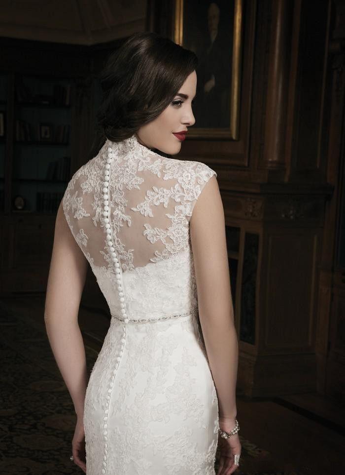 Mermaid Lace Ivory Wedding Dress With Lace Jacket Sweet-heart Court Train - Uniqistic.com