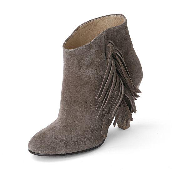 Suecomma Bonnie Suede fringe ankle bootie