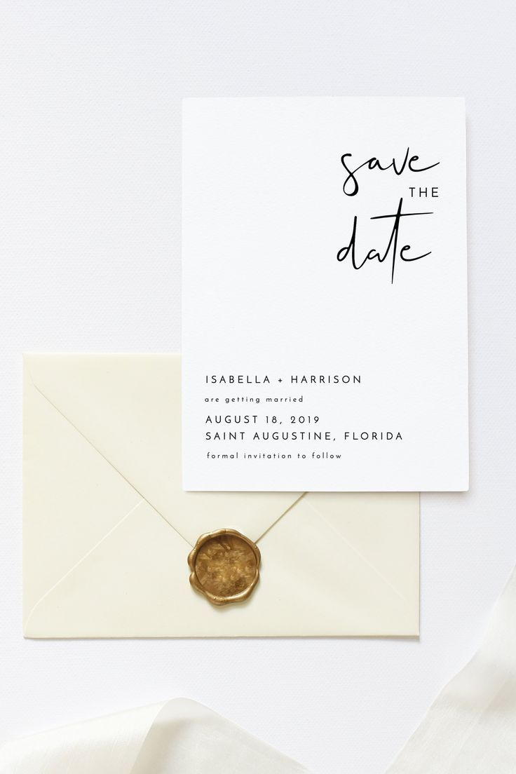 Adella - Modern Minimalist Wedding Save the Date Template