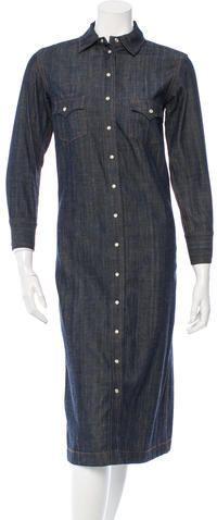 Chloé Denim Midi Dress