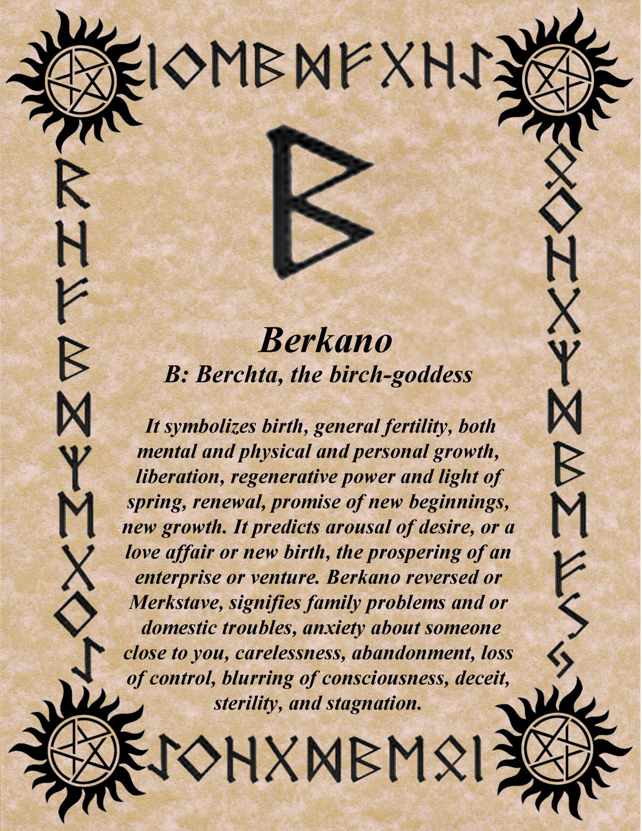 Rune of the day berkano let the rebirth begin sunday blessings futhark norse rune ehwaz what is yours will come to you ehwaz is confirmation of the messages of the other runes buycottarizona Choice Image
