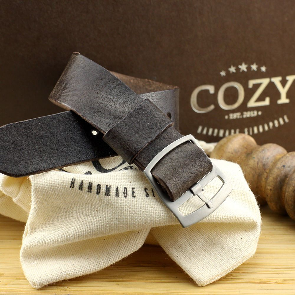 33c971bcd7e Vintage 406 One Piece Leather Watch Strap 20mm 22mm (Perlon Style)  Handmade