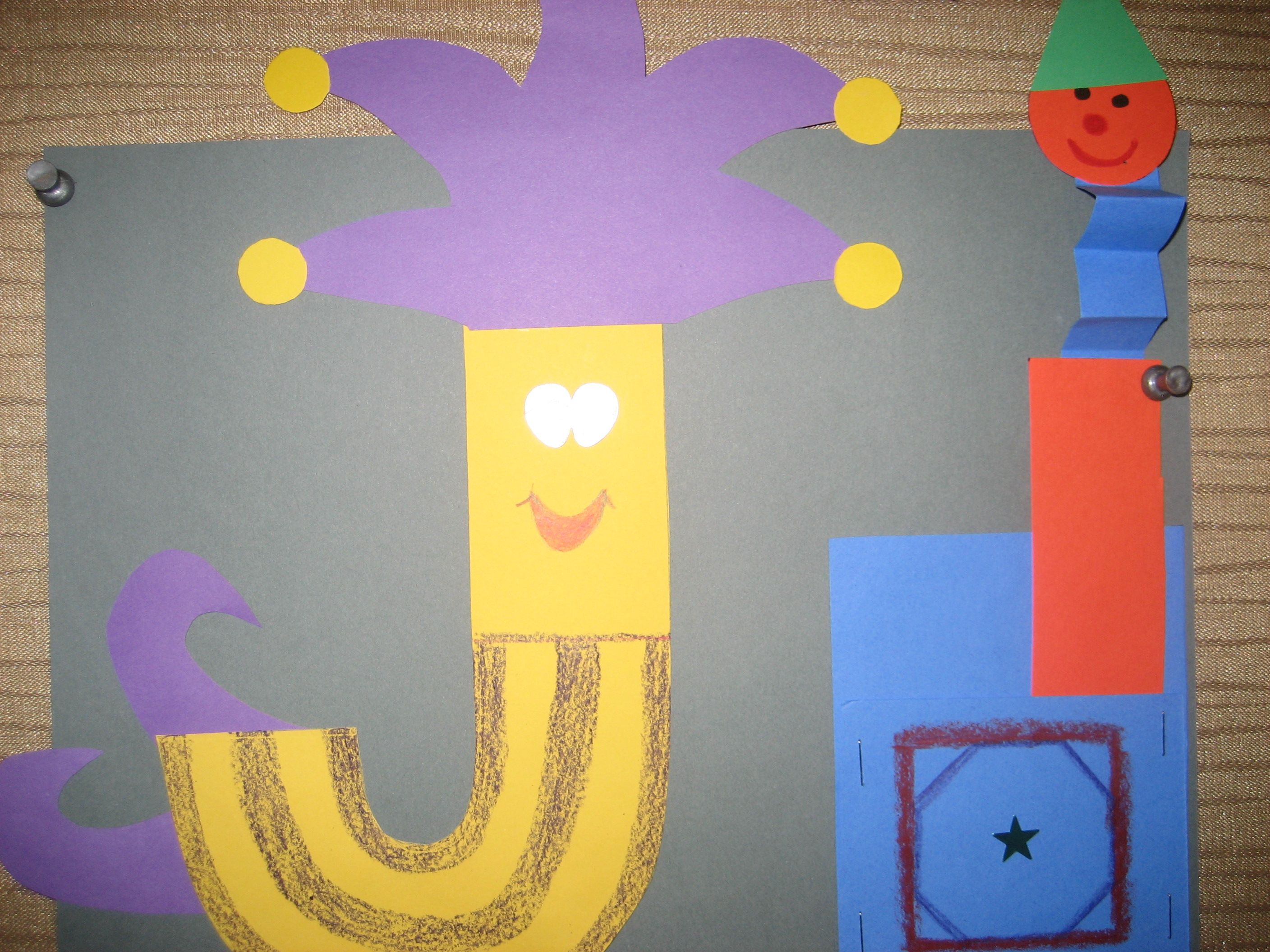 Jj Letter Of The Week Art Project Jester Amp Jack In The Box