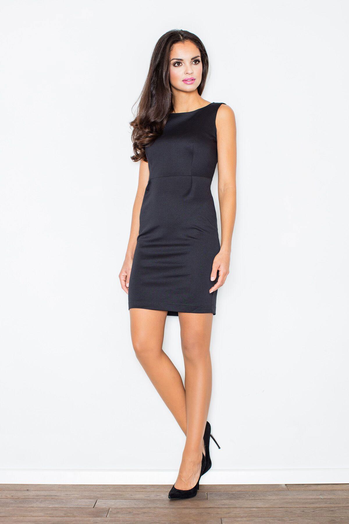 20cdbdc231e Cette robe sans manches noire