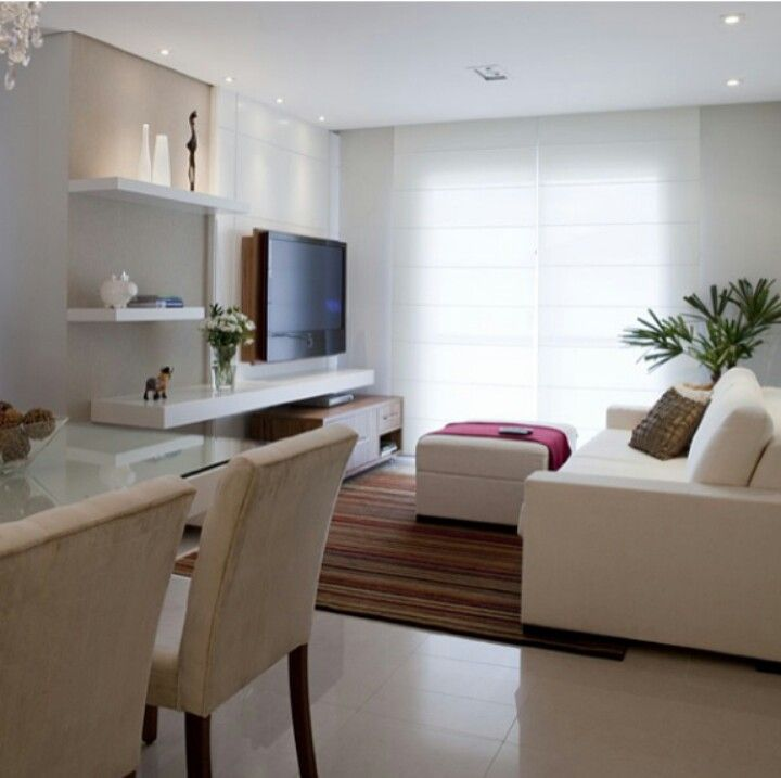 Blanco home Pinterest Blanco, Sala de estar y Decoración - sala comedor pequeo