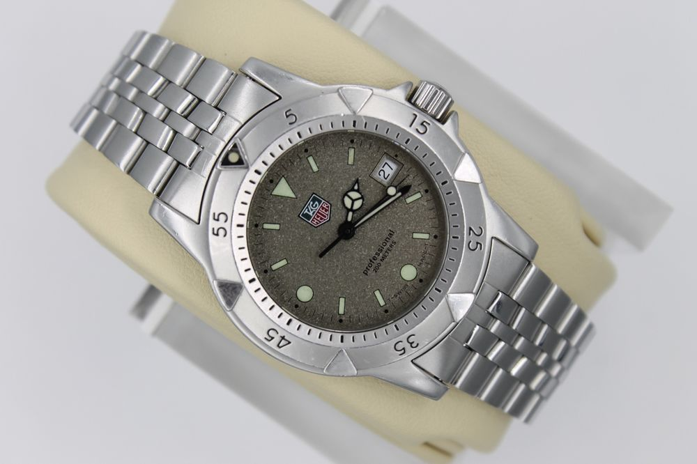 Tag Heuer Brown Granite Professional Sport 1500 Watch Mens Wd1211 Mint Crystal Watches For Men Professional Sports Watches