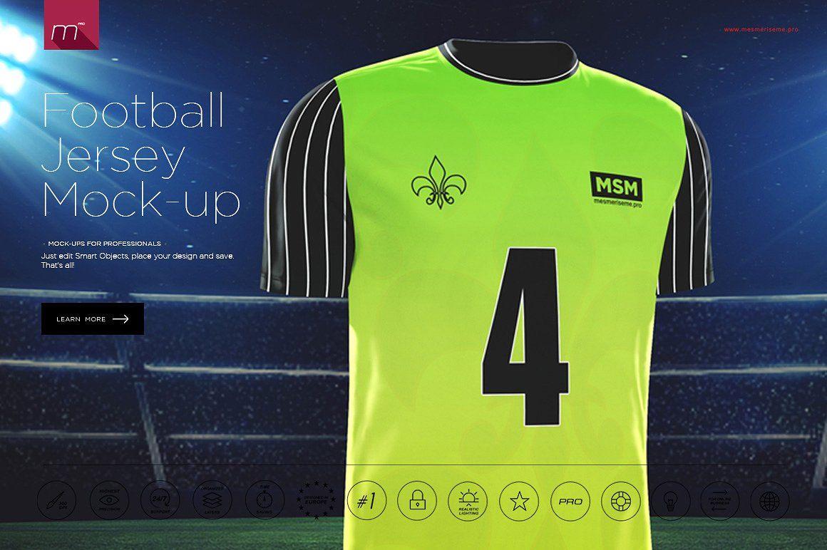 Download Football Jersey Mock-up | Shirt mockup, Football jerseys ...