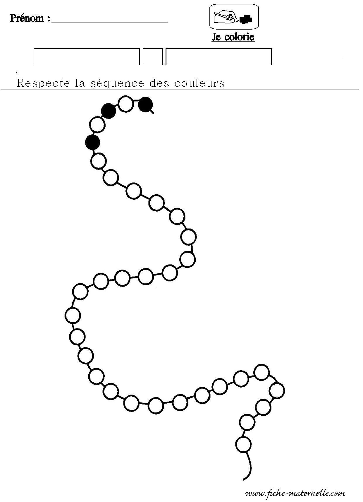 Du …Numeration Maternelle Algorithme Collier Mathematiques 34jLRq5A
