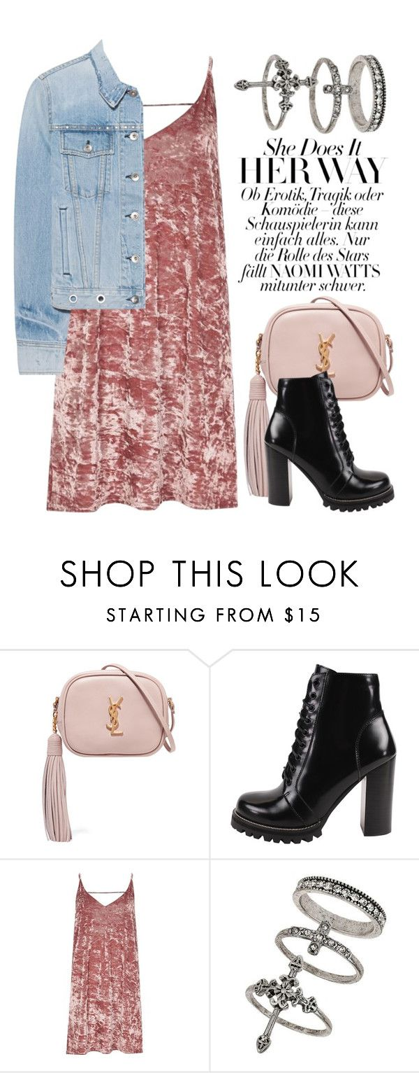 """""""Jan 13th (tfp) 2870"""" by boxthoughts ❤ liked on Polyvore featuring Yves Saint Laurent, Jeffrey Campbell, River Island, Miss Selfridge, rag & bone and tfp"""