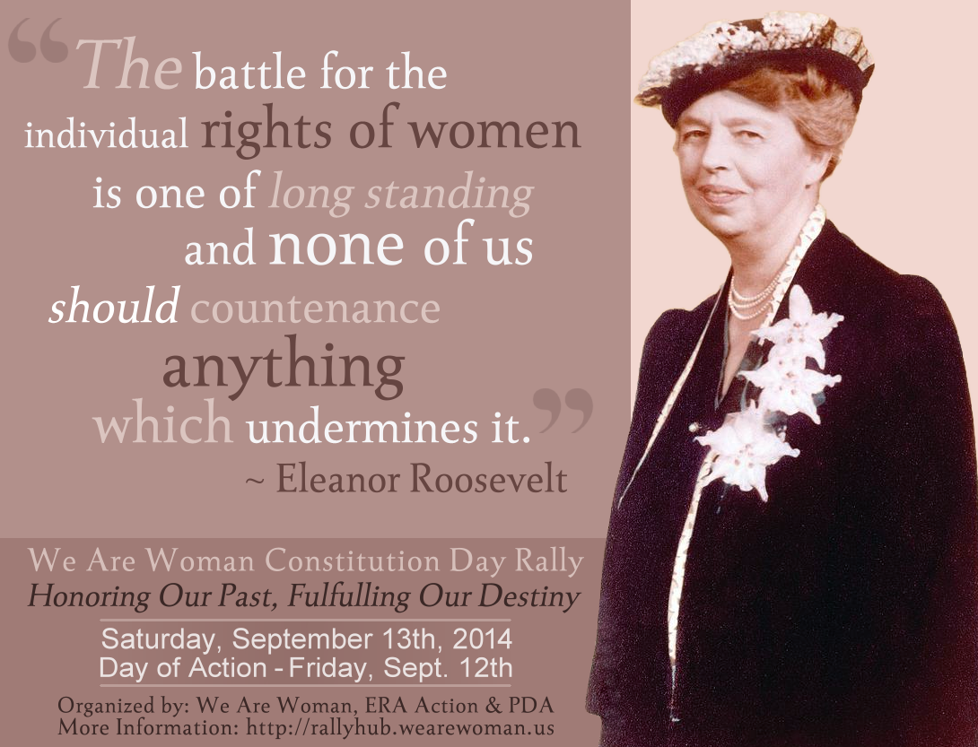 I Like That Eleanor Roosevelt Was One Of The 1st First