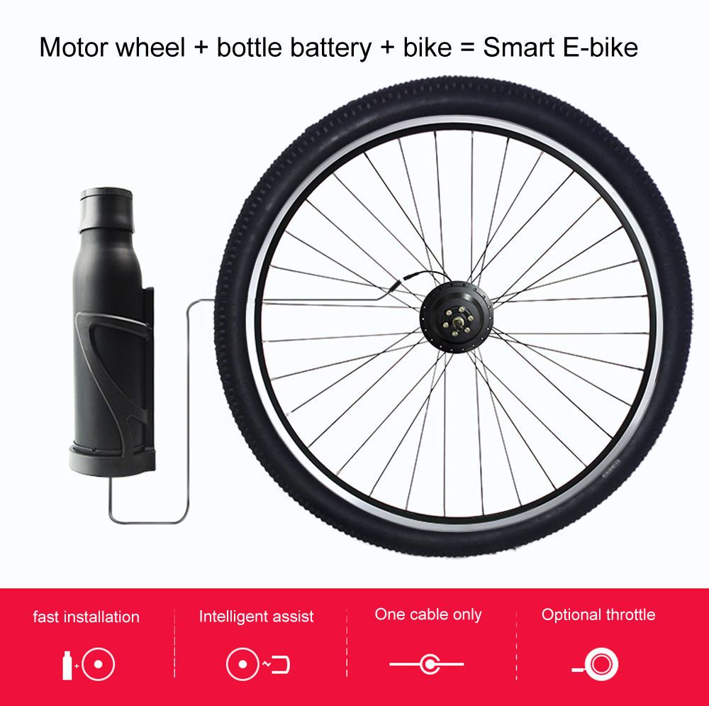 One Cable Electric Bike Conversion Kit Eekit With Battery In 2020
