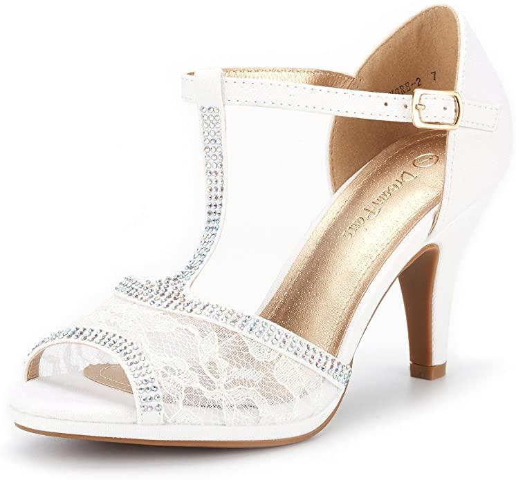 DREAM PAIRS Womens Peep Toe Stilettos Pumps Heels Shoes