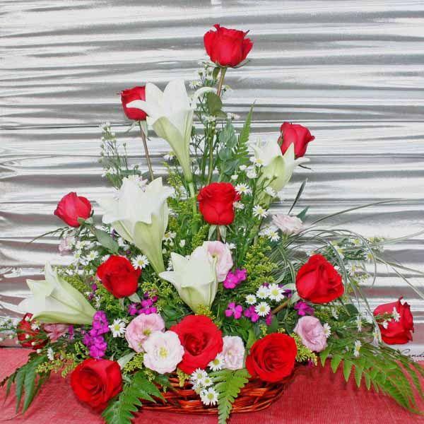 Calla Lily Rose Arrangement Orchid Florist Rose Arrangements Flower Arrangements