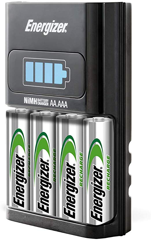 Amazon Com Energizer Aa Aaa 1 Hour Charger With 4 Aa Nimh Rechargeable Batteries Charges Aa Or Aaa Ba Aaa Battery Charger Rechargeable Batteries Nimh Battery