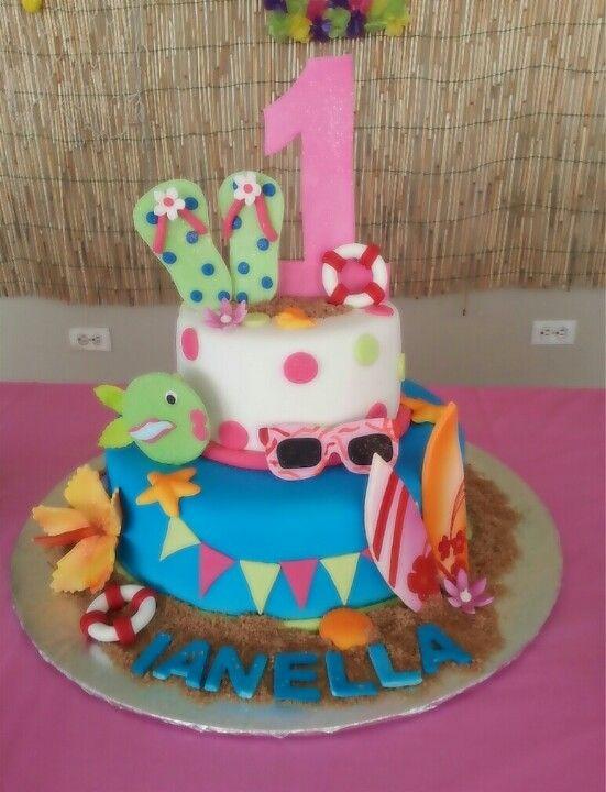 Luau Birthday  #cake #luau #Hawaii #beach #surf