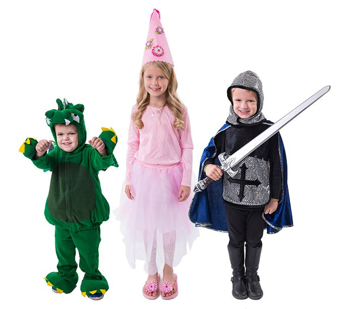 a dragon a princess and knight in shining armor costumes
